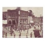 Desfile 4 de julio en una ciudad americana, 1910 postal