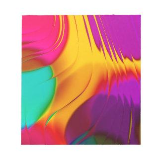 desfile abstracto del color (l) bloc de papel