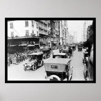 Desfile auto de Pascua en New York City 1920 Póster