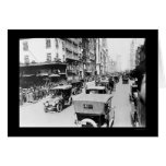 Desfile auto de Pascua en New York City 1920 Tarjetas