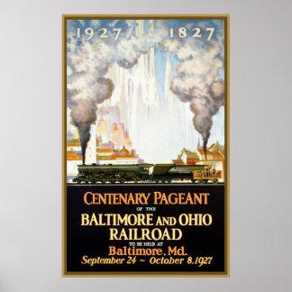 Desfile centenario Baltimore y ferrocarril de Ohio Póster