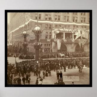 Desfile colombino Chicago IL 1892 Póster