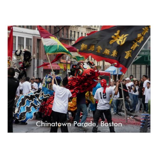 Desfile de Chinatown, Boston Poster