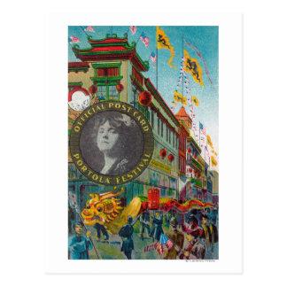 Desfile de Chinatown para el festival de Portola Postal