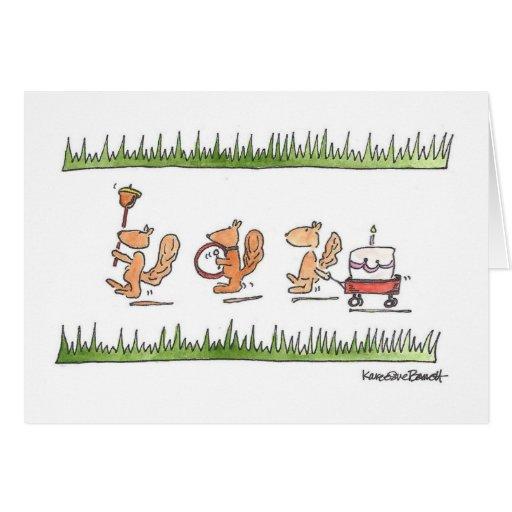 Desfile de la ardilla tarjeta de felicitación