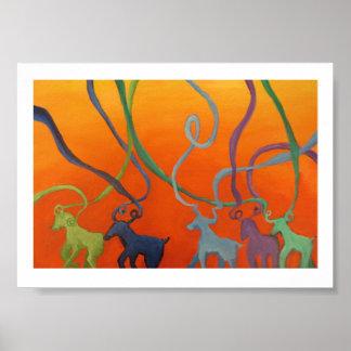Desfile de la cabra póster