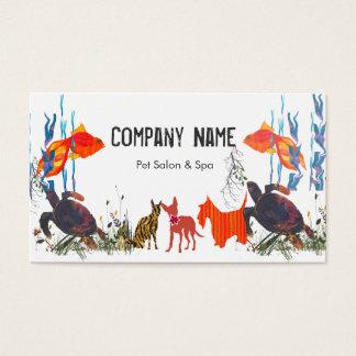 Desfile de la cita del cuidado de animales de tarjetas de visita