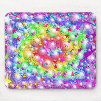 Desfile de la estrella del arco iris mouse pads