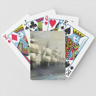 Desfile de la flota del Mar Negro de Ivan Aivazovs Baraja Cartas De Poker