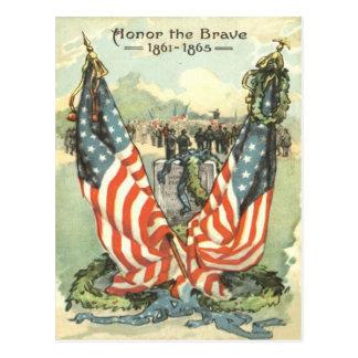 Desfile de la guerra civil de la piedra sepulcral postal