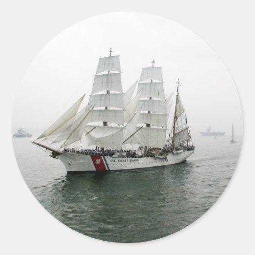 Desfile de la navegación de USCG Pegatina Redonda