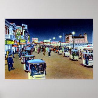 Desfile de la silla de Atlantic City New Jersey en Posters