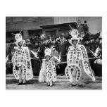 Desfile de las máscaras, Años Nuevos de día, 1909 Postales