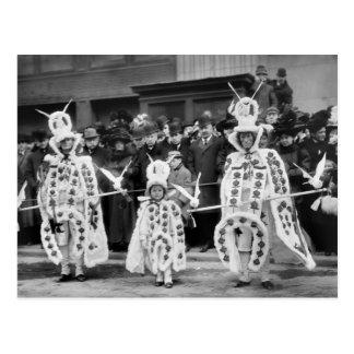 Desfile de las máscaras Años Nuevos de día 1909 Postales