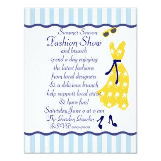 """Desfile de moda de Sundress Invitación 4.25"""" X 5.5"""""""