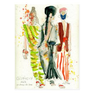Desfile de moda París - ejemplo de Givenchy de la  Postal