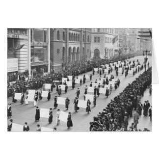 Desfile de Nueva York de los Suffragettes Tarjeta De Felicitación