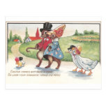 Desfile de Pascua de conejos y de patos