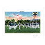 Desfile de vestido de la academia militar # 2 postal