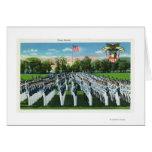 Desfile de vestido de la academia militar tarjeta de felicitación