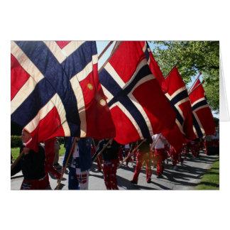 Desfile del AMI de Syttende Tarjeta De Felicitación