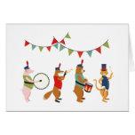 Desfile del animal de la pompa y de la tarjeta de felicitación
