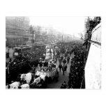 Desfile del carnaval de New Orleans, postal del vi