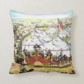 Desfile del circo - almohada del arte del circo cojín decorativo
