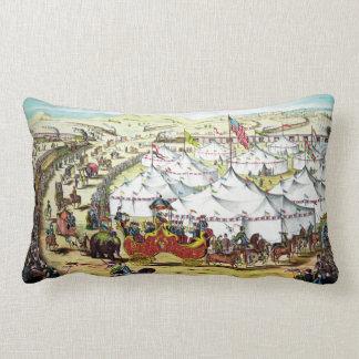 Desfile del circo - almohada del arte del circo cojín lumbar