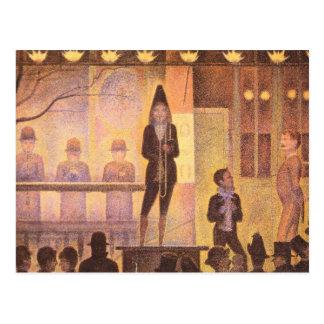 Desfile del circo de Jorte Seurat Tarjeta Postal