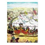 Desfile del circo del vintage postales