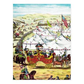 Desfile del circo del vintage tarjeta postal
