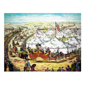 Desfile del circo del vintage tarjetas postales