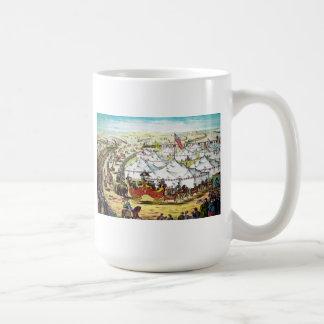 Desfile del circo del vintage taza de café
