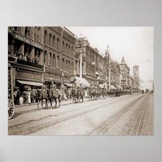 Desfile del circo en Tacoma WA circa 1900 Póster