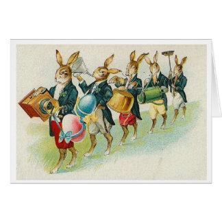 ¡Desfile del conejito de pascua!  Tarjeta de felic