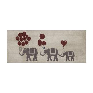 Desfile del elefante impresion en lona