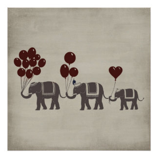 Desfile del elefante posters