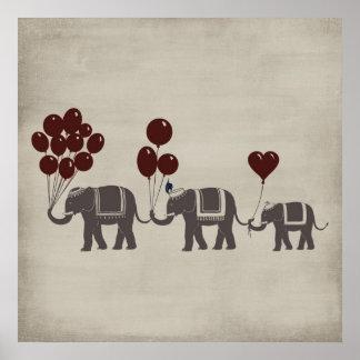 Desfile del elefante póster