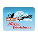 Desfile del mascota del navidad imán flexible