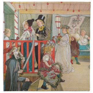 Desfile del navidad de los niños servilleta
