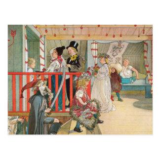 Desfile del navidad de los niños postales