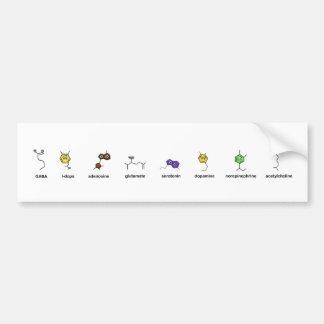 Desfile del neurotransmisor pegatina de parachoque
