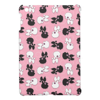Desfile del perro de caniche en rosa iPad mini coberturas