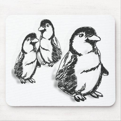 Desfile del pingüino alfombrillas de ratón