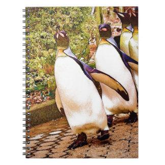 Desfile del pingüino libros de apuntes con espiral