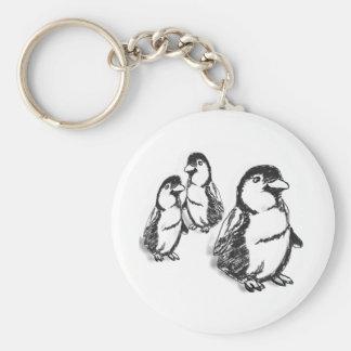 Desfile del pingüino llavero redondo tipo pin