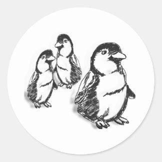 Desfile del pingüino pegatina redonda