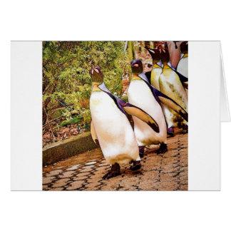 Desfile del pingüino tarjeta de felicitación