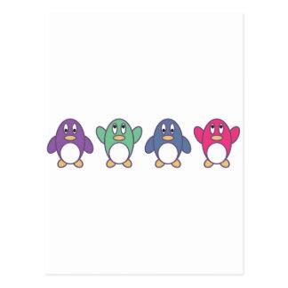Desfile del pingüino tarjeta postal